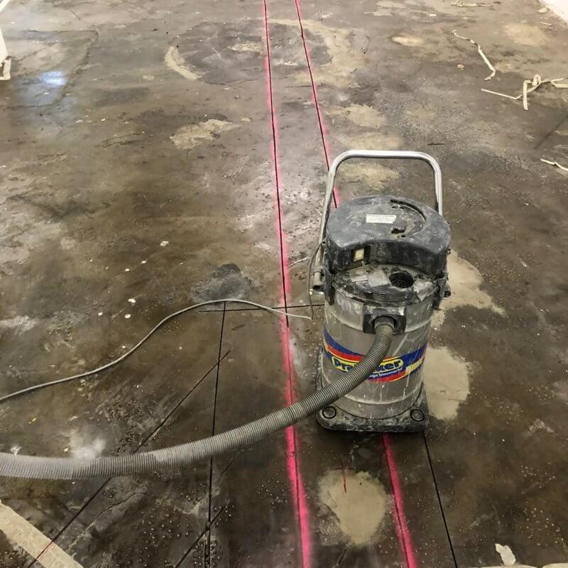 Vorbereitung des Entwässerungskanals