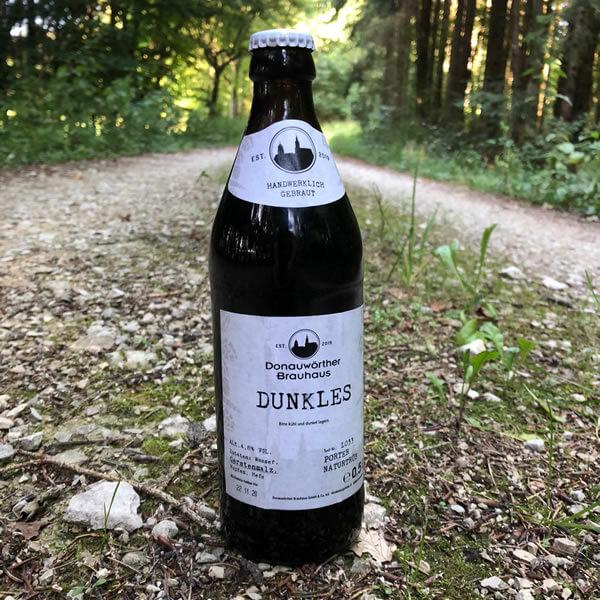 Donauwörther Brauhaus - Dunkles Bier im Wald